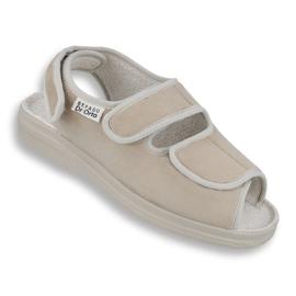 Befado obuwie damskie pu 676D004 brązowe 1