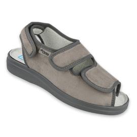 Befado obuwie damskie pu 676D006 szare 1