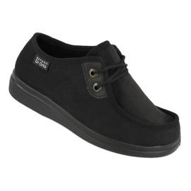 Befado obuwie damskie pu 871D004 czarne 1
