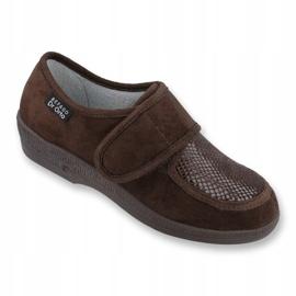 Befado obuwie damskie pu 984D010 brązowe 1