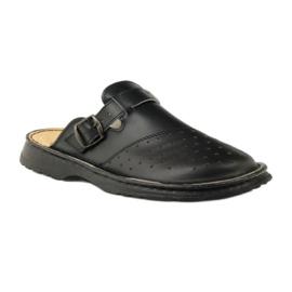 Klapki sandały ortopedyczne medyczne czarne 1