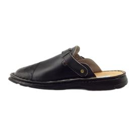 Klapki sandały ortopedyczne medyczne czarne 2