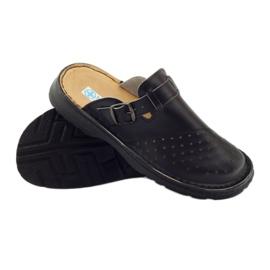 Klapki sandały ortopedyczne medyczne czarne 3