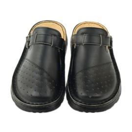 Klapki sandały ortopedyczne medyczne czarne 4