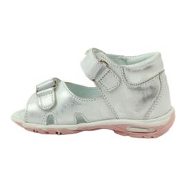 Sandałki na rzepy Bartuś 120 srebrne szare 2