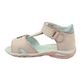 Sandałki na rzepy Bartuś 138 różowe 2