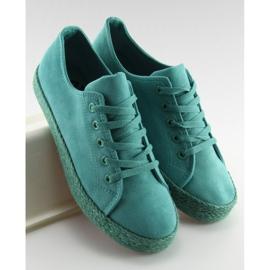 Espadryle full colour turkusowe K1830201 Azul zielone 4