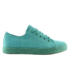Espadryle full colour turkusowe K1830201 Azul zielone 2