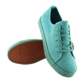 Espadryle full colour turkusowe K1830201 Azul zielone 3