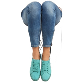 Espadryle full colour turkusowe K1830201 Azul zielone 6