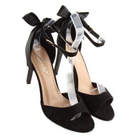 Sandałki na szpilce czarne Z921-7SA-2 black 2