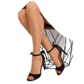 Sandałki na szpilce czarne Z921-7SA-2 black 5