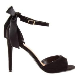 Sandałki na szpilce czarne Z921-7SA-2 black 7