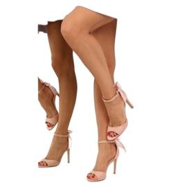 Sandałki na szpilce różowe Z921-7SA-2 pink 8