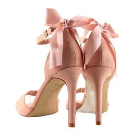 Sandałki na szpilce różowe Z921-7SA-2 pink 6