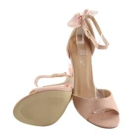 Sandałki na szpilce różowe Z921-7SA-2 pink 1