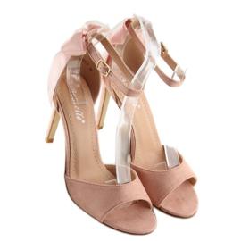 Sandałki na szpilce różowe Z921-7SA-2 pink 2