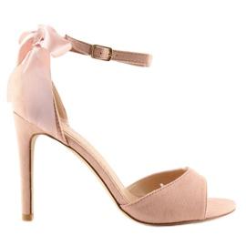Sandałki na szpilce różowe Z921-7SA-2 pink 7