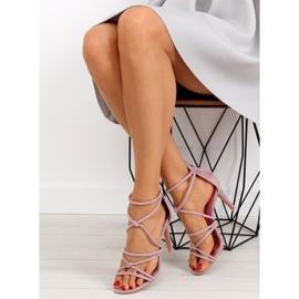 Sandałki na szpilce fioletowe L.PURPLE 4