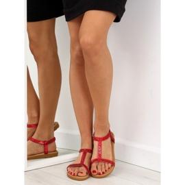 Sandałki damskie czerwone FM5035 Red 1