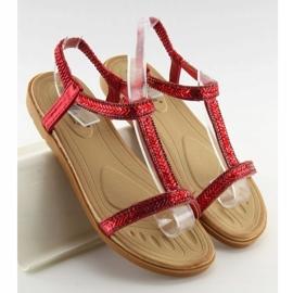 Sandałki damskie czerwone FM5035 Red 2