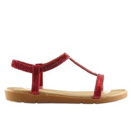Sandałki damskie czerwone FM5035 Red 3