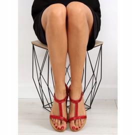 Sandałki damskie czerwone FM5035 Red 4