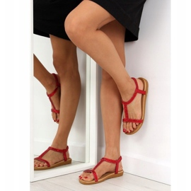 Sandałki damskie czerwone FM5035 Red 5