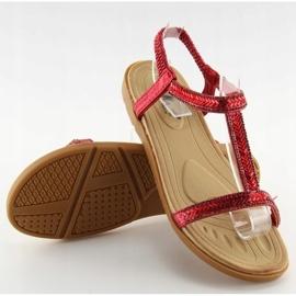 Sandałki damskie czerwone FM5035 Red 6