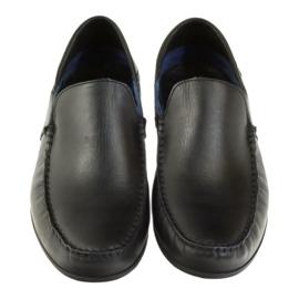 Mokasyny męskie  Badura 3151 czarne 4