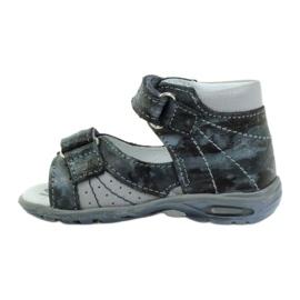 Sandałki na rzepy z odblaskiem Ren But 1407 wielokolorowe szare 2