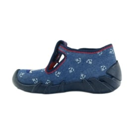 Befado obuwie dziecięce kapcie 110p311 granatowe 2