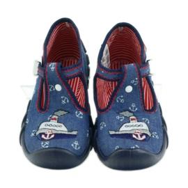 Befado obuwie dziecięce kapcie 110p311 granatowe 4