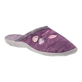 Befado kolorowe obuwie damskie pu 235D152 fioletowe 1