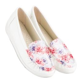 Tullo Białe Mokasyny W Kwiaty 1