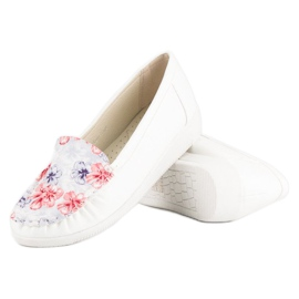 Tullo Białe Mokasyny W Kwiaty 3