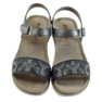 Sandały komfortowe INBLU srebrno-grafitowe szare 4