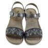 Szare Sandały komfortowe INBLU srebrno-grafitowe zdjęcie 4