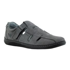 Riko buty męskie sandały dziurkowane 851 szare 1