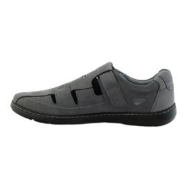 Riko buty męskie sandały dziurkowane 851 szare 2