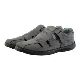 Riko buty męskie sandały dziurkowane 851 szare 3