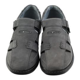 Riko buty męskie sandały dziurkowane 851 szare 4