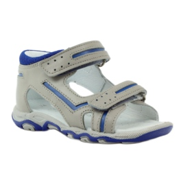 Sandałki na rzepy Bartek 31825 szare 1