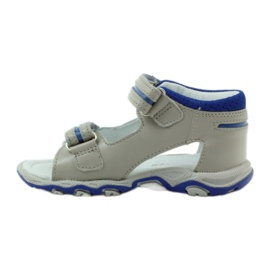Sandałki na rzepy Bartek 31825 szare 2