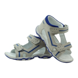 Sandałki na rzepy Bartek 31825 szare 3