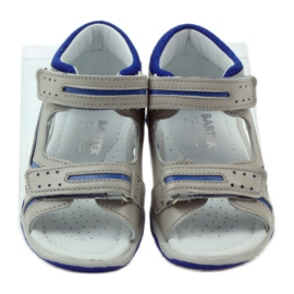 Sandałki na rzepy Bartek 31825 szare 4