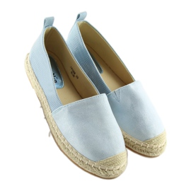 Espadryle damskie niebieskie FF088 blue 3