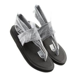 Sandałki japonki bawełniane szare DD81P grey 1