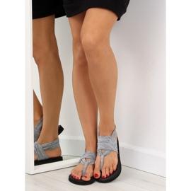 Sandałki japonki bawełniane szare DD81P grey 4