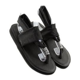 Sandałki japonki bawełniane czarne DD81P 1